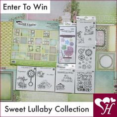 Follow us and repin. WIN IT BEFORE YOU CAN BUY IT !!! The complete May Sweet Lullaby collection is going to 2 randomly chosen winners. Which includes a Paper Pad, 6 stamp sets and 1 die.. Contest closes on Monday May 5th at 4 P.M. Eastern Standard Time (US) Good luck to each one of our followers !