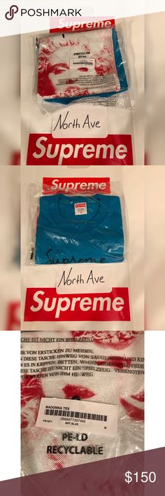 0c68ce8a1 Supreme Madonna Tee - Bright Blue Size Medium The hottest item of supreme's  week 1 drop
