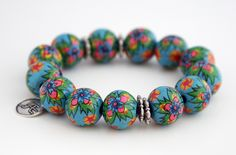 Color your life! #maei #bracelet #handpainted #ColorYourLife #accessories
