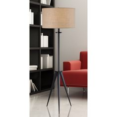 Closed tapered legs softened by elegantly textured shades and its delicate stance define the graceful elegance of this Caperana steel floor lamp. The modern design of this effulgent floor lamp is right on point.
