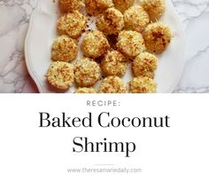 Coconut is one of my absolute favorite foods. I love adding it to smoothies, pudding, yogurt, etc. One of my favorite things to have coconut on is shrimp! I've always loved coconut shrimp. Sugar Free Recipes, Gluten Free Recipes, New Recipes, Vegetarian Recipes, Favorite Recipes, Healthy Coconut Shrimp, Coconut Shrimp Recipes, Healthy Fridge, Healthy Eating