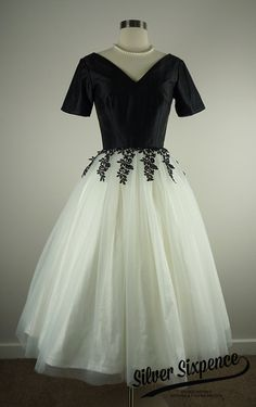 Rear Window Dress 50s inspired black and by SilverSixpenceBridal, $1100.00