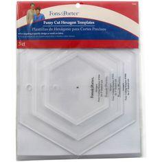 Dritz Fons & Porter Fussy Cut Templates-Hexagons