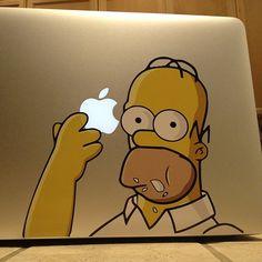 Homer MacBook Sticker | coolest MacBook sticker yet.