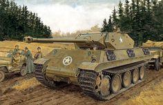 Pinturas de tanques: Segunda Guerra Mundial — 1944 Panther disguised as Wolverine - Ron Volstad