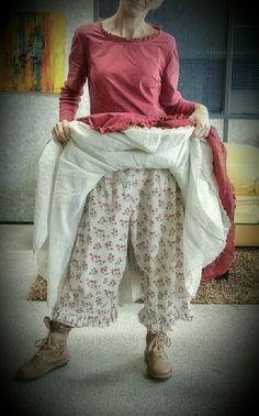 Robe framboise & Jupon crème Ewa I Walla sur Panty Nadir Positano ♡♡♡