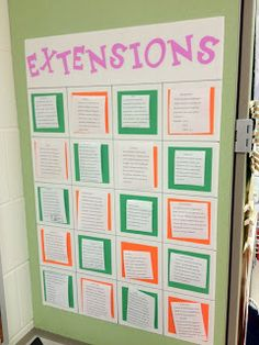 Great idea--laminated activities are velcroed to the board so students can take off the assignments and return them. And, the activities can be changed throughout the year (and reused the next year).