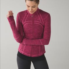 New Lululemon Define Jacket NWT: Layer on this warm, lightweight jacket before you hit the hiking trails or head to the studio. Color: diamond jacquard berry rumble jewelled magenta. Firm price. lululemon athletica Jackets & Coats