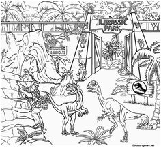 Free Jurassic Park Dinosaur Coloring Pages