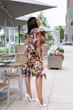 Modernized Ankara Dress For Wedding Diyanu African Wear Dresses, Ankara Dress Styles, Latest African Fashion Dresses, African Print Fashion, African Attire, Ankara Styles For Weddings, Ankara Dress Designs, Africa Fashion, African Prints