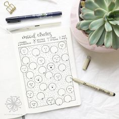 • mood tracker for june • . after two months without a mood tracker i track my mood this month with these simple and cute circles again. .…
