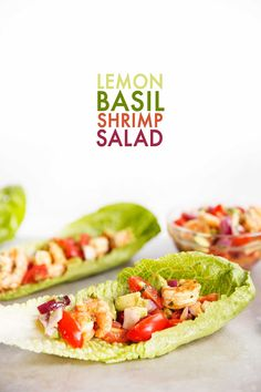 This 1-bowl Lemon Basil Shrimp Salad is tangy with a kick and the perfect refreshing lunch or light dinner on a summer day!
