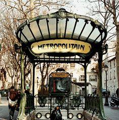 Paris Metro Station by Christopher Bliss Paris 3, I Love Paris, Hector Guimard, Paris Neighborhoods, Architecture Art Nouveau, Paris Metro, Art Nouveau Design, Metro Station, Travel And Leisure