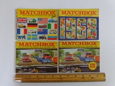 Set of 4 Vintage Matchbox Toy Catalogs. by LeObjectUnique on Etsy Unique Vintage, Vintage Items, Toy Catalogs, Green Companies, Handmade Envelopes, Shipping Supplies, 9 And 10, Diecast, Recycling