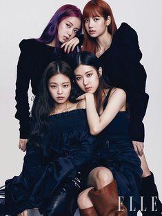 BlackPink for Elle Korea August Photographed by Kim Yeong Jun Kim Jennie, Jenny Kim, Kpop Girl Groups, Korean Girl Groups, Kpop Girls, Forever Young, K Pop, Blackpink Poster, Black Pink Kpop