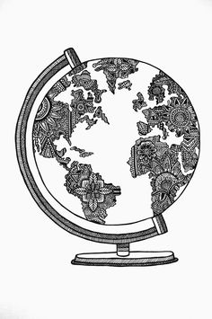 Zen doodle Boho Globe Unlimited boho @diannedarby