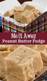 Away Peanut Butter Fudge - For a peanut butter fudge that literally melts in your mouth, this is the recipe you need. -Melt Away Peanut Butter Fudge - For a peanut butter fudge that literally melts in your mouth, this is the recipe you need. Peanut Butter Recipes, Fudge Recipes, Candy Recipes, Sweet Recipes, Holiday Recipes, Dessert Recipes, Marshmallow Fluff Peanut Butter Fudge Recipe, Pb Fudge Recipe, Peanut Butter Marshmallow Fudge