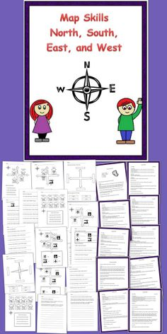 Here is an introduction unit to North, South, East, and West. Great for 1-3 grade and special education. Includes 8 lesson plans, worksheets, games, and writing extensions.