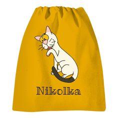Krásný vak na záda s kočičkou Drawstring Backpack, Backpacks, Bags, Handbags, Backpack, Backpacker, Bag, Backpacking, Totes