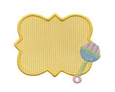 Baby Rattle Patch Applique - 3 Sizes!