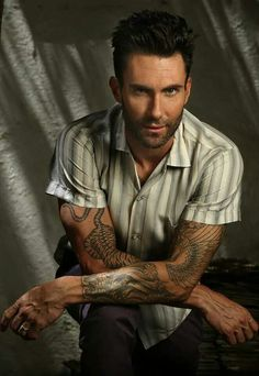 Adam Levine. he's giving the smoulder