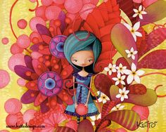 A Quality Educa Blue Lady by Ketto 1000 piece jigsaw puzzle Educa Puzzles are known around the world for their quality standards. Art And Illustration, Painting For Kids, Art For Kids, Pretty Drawings, Drawing Projects, Jolie Photo, Cute Clipart, Pretty Pictures, Love Art