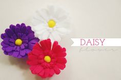 felt daisy with template