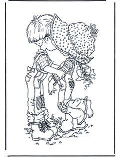 sarah kay coloring pages Sarah Key, Holly Hobbie, Sarah Kay Imagenes, Embroidery Art, Embroidery Patterns, 4 Image, Valentines Day Coloring Page, Illustration, Coloring Book Pages