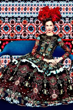 LIA Leuk Interieur Advies/Lovely Interior Advice: Decor and Fashion - Prints of the Seasons by Erik Madigan Heck for Harpers Bazaar March 2014 Party Fashion, Fashion Shoot, Editorial Fashion, High Fashion, Fashion Beauty, Fashion 2014, Fashion News, Style Fashion, Luxury Fashion