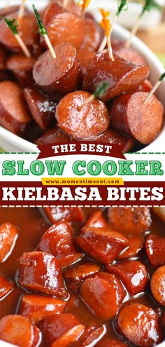 Bust out your slow cooker for the best 4th of July appetizer! This kielbasa bites recipe is perfect for entertaining. With that depth of flavor, this party food is sure to be a hit at your party! Family Recipes, Pork Recipes, Asian Recipes, Yummy Recipes, Slow Cooker Kielbasa, Slow Cooker Recipes Dessert, Party Dips, Easy Appetizer Recipes