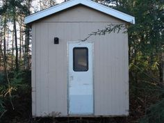Modern homemade outhouse. Lol
