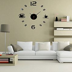 High Quality Creative Fashion Contracted Mute Acrylic DIY Fun Battery Digital Wall Clock-Coffee Cup and Coffee Beans - One Item with Design and Color May Vary YGS http://www.amazon.com/dp/B01CH6LTZO/ref=cm_sw_r_pi_dp_pQ71wb1JA2R0A