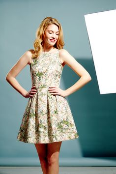 Abstract Orchid Skater Dress £119