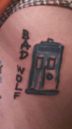 My Bad Wolf tattoo. Yours Truly in Hagerstown MD