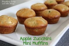 Strawberry Swing and other things: [Kid Tested, Mom Approved! - Link Up] Apple Zucchini Mini Muffins
