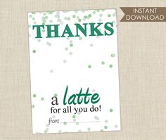 Starbucks Gift Card Holder Instant Download from Brown Paper Studios