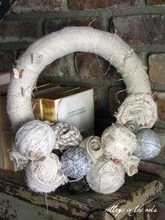 mixed media wreath