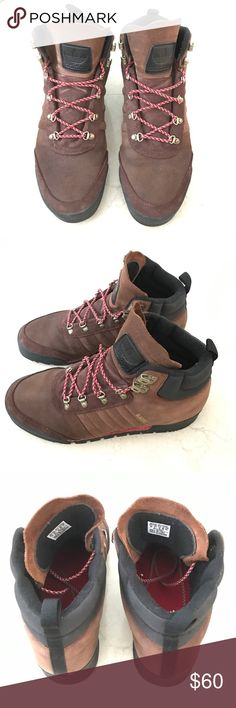 Adidas men's brown suede hiking boots US 10 Like new! Worn once. Adidas mens brown suede hiking boots US 10. Adidas Shoes Boots