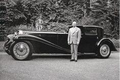 Fritz Schlumpf with Bugatti Type 41 Coupe Napolean Royale