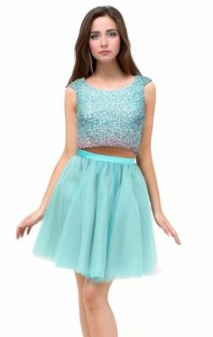 Ombre Beaded Two-Piece Dress by Terani Couture Homecoming 1521H0100