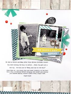 Scrapbooking for fun - Oh happy day - Simply Mardi