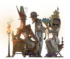 https://flic.kr/p/5TfrK8 | Egipto | Ilustración en proceso. Pronto la terminaré. Creación 2008. Illustration in process. Early will finish it. Creation 2008.