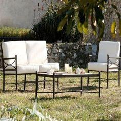 Mobiliario de forja para terraza y jardín, colección NILO