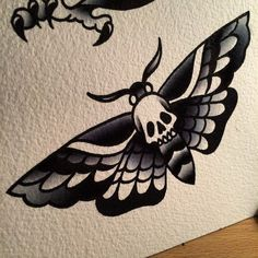 24 The Most Popular Mermaid Tattoo Designs - Tattoos and Body Art - Famous Last Words Traditional Tattoo Drawings, Traditional Butterfly Tattoo, Traditional Tattoo Design, American Traditional Tattoos, Butterfly Tattoo For Men, Traditional Tattoo Outline, Traditional Tattoo Halloween, Traditional Panther Tattoo, Moth Tattoo