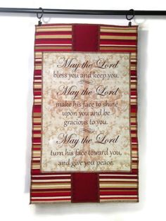 Scripture Sign Wall Art Quilted Wall Hanging by ModernArras