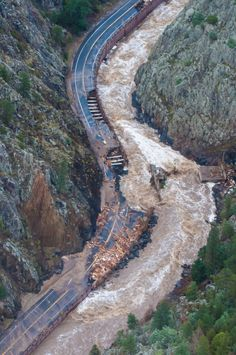 The Big Thompson River floods and damages Highway 34 in the Big Thomspon Canyon west of Loveland Friday September We have taken this road many times. Canyon Colorado, Colorado Homes, Tsunami, Natural Phenomena, Natural Disasters, Earthquake Damage, Wild Weather, Tornados, Estes Park