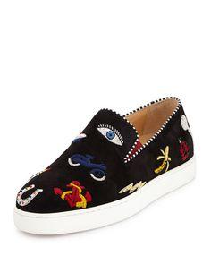 louboutin shoes price - CHRISTIAN LOUBOUTIN Marlenarock Crisscross Suede Red Sole Pump ...