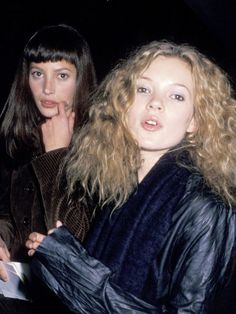 Back in 1993, Kate Moss was a fan of a big, curly 'do.