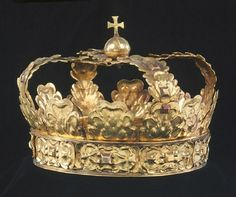Title Funeral Crown: Crown of gold, belonging toCharles X Gustav of Sweden, ca 1660.
