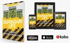 """3d Cover and Device Renderings we generated for """"Dispensary Life"""" - an interior and eBook we designed, along with author's websites.  www.DispensaryLife420.com Web Design, Author, 3d, Cover, Interior, Books, Life, Livros, Design Web"""